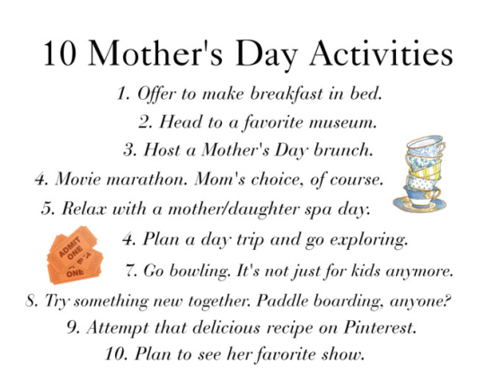 10 Mother's Day Activities