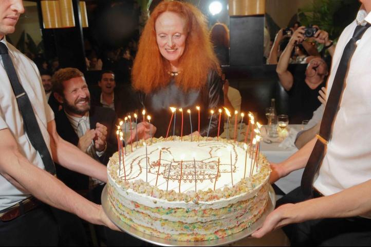 Grace Coddington Funfetti Cake