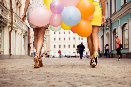 Girls and Their Balloons