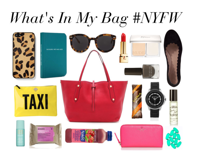 What's In My Bag #NYFW SS13