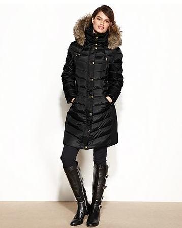 MICHAEL Michael Kors Coat, Hooded Faux-Fur-Trim Puffer