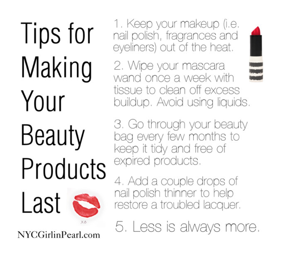 Tips for Making Your Beauty Products Last