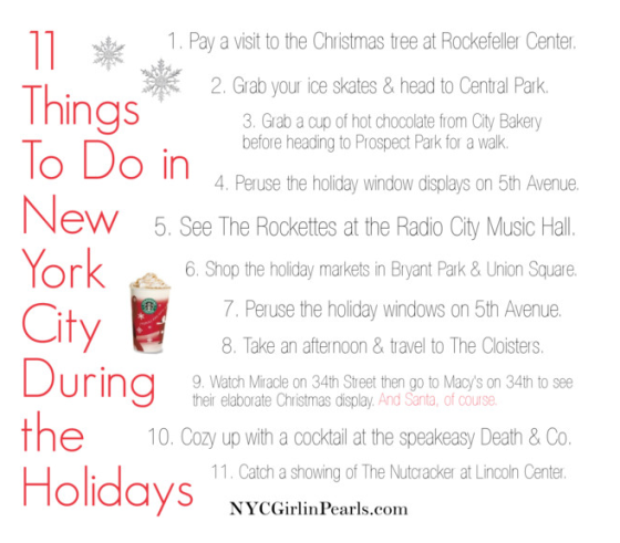 11 things to do in new york city during the holidays for Thing to do new york